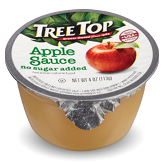 No Sugar Added Apple Sauce Cup